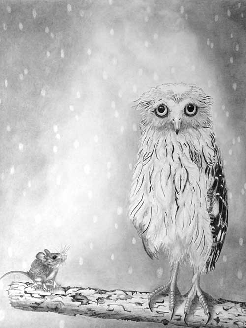 """Owl & Mouse"" by Chris Strijthagen"