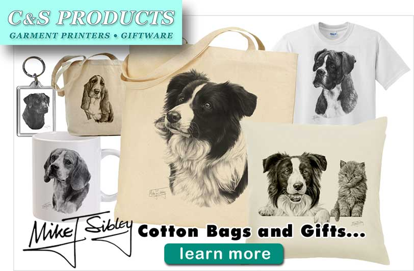 Mike Sibley cotton bags, cushions and many gift items by C&S Products