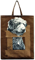 Shopping bag - Bearded Collie cross